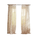 Home Accents Westport Floral Tie-Top Sheer Window Curtain Panel, Flax, 52