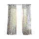 Home Accents Westport Floral Tie-Top Sheer Window Curtain Panel, Indigo, 52