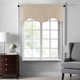 Home accents Colette Faux Silk Scalloped Window Valance, Taupe, 50