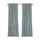 Home accents Mia Jacquard Scroll Blackout Window Curtain Panel, Blue, 52