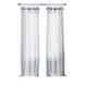 Home Accents Shilo Boho Sheer Tab Top Window Curtain Panel with Tassels, Indigo, 52