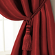 Home Accents Amelia Decorative Tassel Window Curtain Tieback, Red, 24