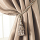 Home Accents Charlotte Decorative Tassel  Window Curtain Tieback, Ivory, 24