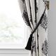Home Accents Nomad Decorative Wooden Fringe Tassel Window Curtain Tieback, Black, 25