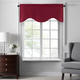 Home accents Colette Faux Silk Scalloped Window Valance, Red, 50