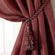Home Accents Charlotte Decorative Tassel  Window Curtain Tieback, Red, 24