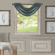 Home Accents All Seasons Waterfall Window Valance, Dusty Blue, 52