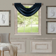 Home Accents All Seasons Waterfall Window Valance, Navy, 52