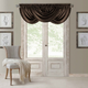 Home Accents Versailles Faux Silk Waterfall Window Valance, Chocolate, 52