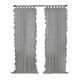 Home accents Bella Tab-Top Ruffle Sheer Window Curtain Panel, Gray, 52