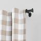 Home Accents Shaker Window Drapery Single Curtain Rod, Wrought Iron, 28