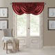 Home Accents Versailles Faux Silk Waterfall Window Valance, Rouge, 52