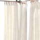 Home Accents Darien Indoor/Outdoor Sheer Tab Top Window Curtain, Ivory, 52