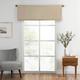 Home Accents Vanderbilt Straight Pleated Window Valance, Natural, 50
