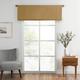 Home Accents Vanderbilt Straight Pleated Window Valance, Gold, 50