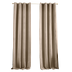 Home Accents Huxley Geometric Blackout Embroidered Textured Window Curtain Panel, Taupe, 52