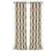 Home Accents Navara Medallion Room Darkening Window Curtain Panel, Natural, 52