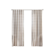 Home Accents Farmhouse Living Buffalo Check Window Curtain Panel, Tan, 52