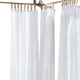 Home Accents Darien Indoor/Outdoor Sheer Tab Top Window Curtain, White, 52