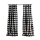 Home Accents Grainger Buffalo Check Blackout Window Curtain Panel, Black, 52