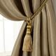 Home Accents Amelia Decorative Tassel Window Curtain Tieback, Gold, 24