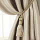 Home Accents Amelia Decorative Tassel Window Curtain Tieback, Ivory, 24