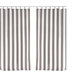 Home Accents Highland Stripe Indoor/Outdoor Window Curtain, Gray, 50