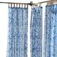 Home Accents Verena Floral Indoor/Outdoor Sheer Tab Top Window Curtain, Indigo, 52