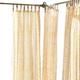 Home Accents Verena Floral Indoor/Outdoor Sheer Tab Top Window Curtain, Marigold, 52