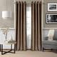 Home Accents Victoria Velvet Room Darkening Window Curtain Panel, Bronze, 52