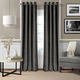Home Accents Victoria Velvet Room Darkening Window Curtain Panel, Smoke, 52