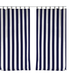 Home Accents Highland Stripe Indoor/Outdoor Window Curtain, Navy, 50