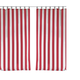 Home Accents Highland Stripe Indoor/Outdoor Window Curtain, Red, 50