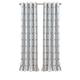 Home Accents Kaiden Geometric Room Darkening Window Curtain Panel, Soft Blue, 52