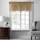 Home accents Colette Faux Silk Tassel Scallop Window Valance, Gold, 48