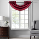 Home accents Colette Faux Silk Waterfall Beaded Window Valance, Red, 42