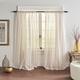 Home accents Hampton Stripe Sheer Window Curtain Panel, Linen, 52