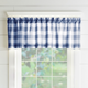 Home Accents Farmhouse Living Buffalo Check Window Valance, Blue/White, 60