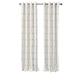 Home Accents Kaiden Geometric Room Darkening Window Curtain Panel, Light Gold, 52