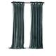 Home Accents Korena Tie-Top Crushed Velvet Window Curtain Panel, Peacock, 52