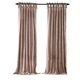 Home Accents Korena Tie-Top Crushed Velvet Window Curtain Panel, Taupe, 52