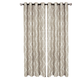 Home accents Medalia Room Darkening Geometric Window Curtain, Linen, 52