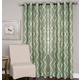 Home accents Medalia Room Darkening Geometric Window Curtain, Spa Green, 52