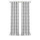 Home Accents Kaiden Geometric Room Darkening Window Curtain Panel, Gray, 52