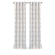 Home Accents Kaiden Geometric Room Darkening Window Curtain Panel, Taupe, 52