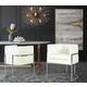 Giselle Giselle Cream Velvet Dining Chair - Silver Frame