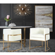 Giselle Giselle Cream Velvet Dining Chair - Gold Frame