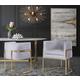 Giselle Giselle Gray Velvet Dining Chair - Gold Frame