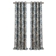 Home Accents Sorrento Room Darkening Window Curtain, Blue/Taupe, 52