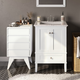 Simpli Home Draper Four Drawer Floor Storage Cabinet